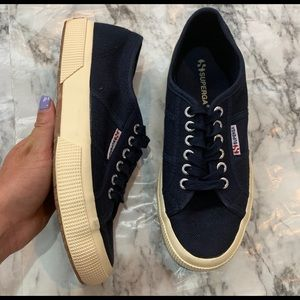 Superga Navy Blue Sneakers Shoes Low Top USA 8